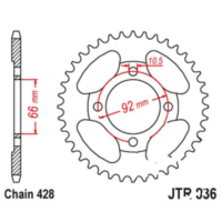 REAR SPROCKET 36 TOOTH PITCH 428 JTR83636