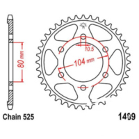 Rear sprocket 40 tooth pitch 525 JTR148940