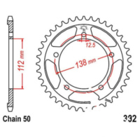 Rear sprocket 43 tooth pitch 530 JTR30243 für Honda CBR  600 PC31 1995