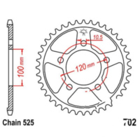 Rear sprocket 42 tooth pitch 525 JTR70242