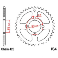Rear sprocket 48 tooth 420 black