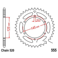 Rear sprocket 45 tooth pitch 520 JTR85545