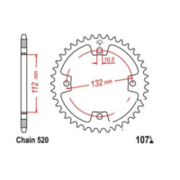 Rear sprocket 36 tooth pitch 520 JTR107236