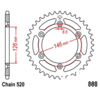 Rear sprocket 49 tooth pitch 520 JTR80849