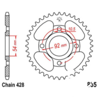 Rear sprocket 49 tooth pitch 428 JTR83549