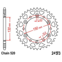 Rear sprocket 42 tooth pitch 520 JTR245342