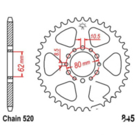 Rear sprocket 40 tooth pitch 520 JTR84540