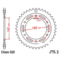 Rear sprocket 47 tooth pitch 525 black
