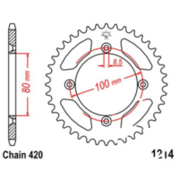 Rear sprocket 49 tooth 420 black