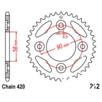 Rear sprocket 35 tooth pitch 420 JTR21235
