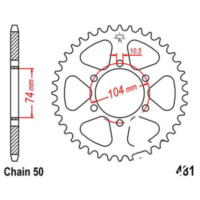 Rear sprocket 42 tooth pitch 530 JTR48142