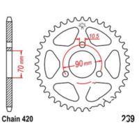 Rear sprocket 50tooth pitch 420 JTR23950