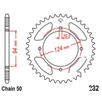 Rear sprocket 34 tooth pitch 530 JTR28234