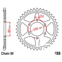 Rear sprocket 44 tooth pitch 530 JTR48844