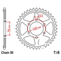 Rear sprocket 40tooth pitch 530 JTR81640
