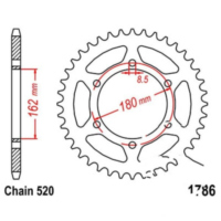 Rear sprocket 46 tooth 520 silver