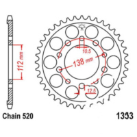 Rear sprocket 41tooth pitch 520 JTR130341