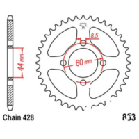 Rear sprocket 41 tooth pitch 428 JTR83341
