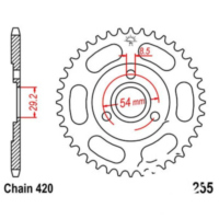 Rear sprocket 42tooth pitch 420 JTR25542