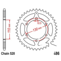 Rear sprocket 41 tooth pitch 520 JTR48641