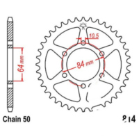 Rear sprocket 45 tooth pitch 530 JTR81445