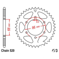Rear sprocket 37 tooth pitch 520 JTR47337