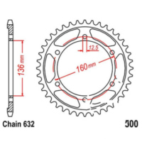 Rear sprocket 40 tooth pitch 632