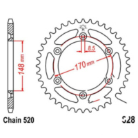 Rear sprocket 50tooth pitch 520 JTR82850