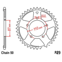 Rear sprocket 44 tooth pitch 530 JTR82944