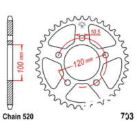 Rear sprocket 40 tooth pitch 520 JTR70340
