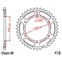 Rear sprocket 41 tooth pitch 530 silver