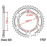 Rear sprocket 45 tooth pitch 525 JTR130745
