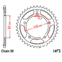 Rear sprocket 41 tooth pitch 530 JTR149341