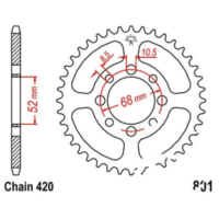 Rear sprocket 41 tooth pitch 420 JTR80141