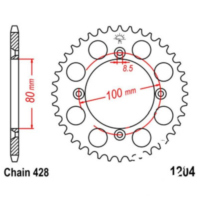 Rear sprocket 50 tooth pitch 428 JTR120450 für AJP PR3 Enduro Pro 200  2013