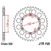 Rear sprocket 43 tooth 520 black JTR46043