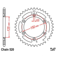 Rear sprocket 50 tooth pitch 520 JTR89750