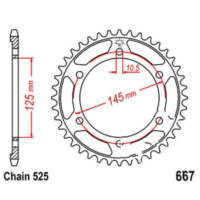 Rear sprocket 44 tooth pitch 525 JTR86744