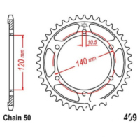 Rear sprocket 38 tooth pitch 530 JTR49938