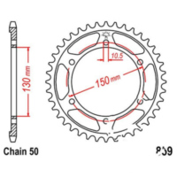 Rear sprocket 48 tooth pitch 530 JTR85948
