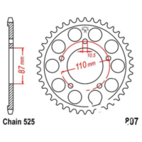 Rear sprocket 48 tooth pitch 525 JTR80748