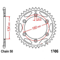 Rear sprocket 43 tooth pitch 530 JTR130643