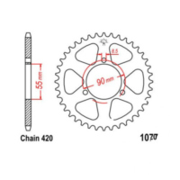 Rear sprocket 47 tooth pitch 420 JTR107747