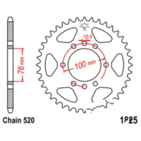 Rear sprocket 42 tooth pitch 520 JTR182542