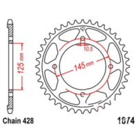 Rear sprocket 59 tooth pitch 428