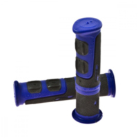 Grips black blue atv