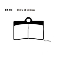 Brake pads semi-sint v ebc FA095V für Ducati Supersport Carenata 600 600S 1994 (front)
