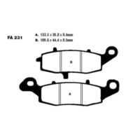 Brake pads semi-sint v ebc FA231V für Suzuki VL Intruder 1500 AL2111 2009 (front right)