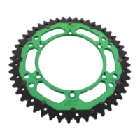 Rear sprocket dual 49 tooth pitch 520 green
