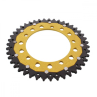 REAR SPROCKET DUAL 43 TOOTH PITCH 520 GOLD ZFD179343GLD